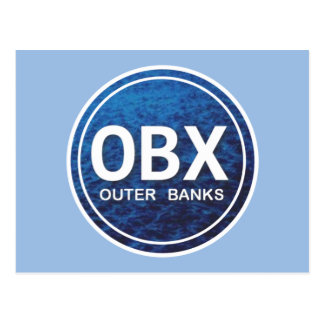 OBX Outer Banks Beach Tag Postcard
