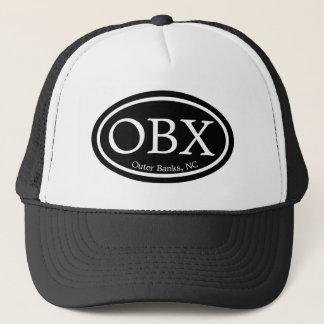 OBX Outer Banks Black Oval Trucker Hat