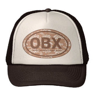 OBX Outer Banks NC Floral Beach Tag Hat