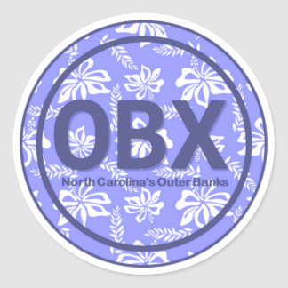 OBX Outer Banks NC Flower Stickers