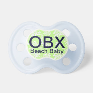 OBX Outer Banks NC Green Baby Pacifier