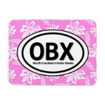 OBX Outer Banks NC Pink Magnet