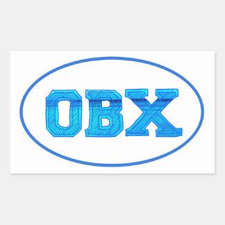 OBX Outer Banks Pegatina Rectangular