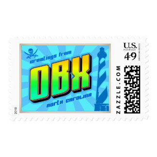 OBX Outer Banks postage stamps