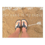OBX Outer Banks Sand In mY shoes beach of NC flip Postcard