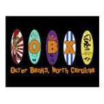 OBX Outer Banks Surf Postcard