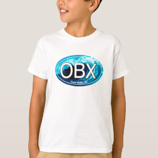 OBX Outer Banks Wave Oval T-Shirt