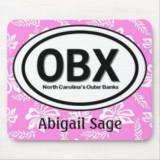 OBX personalizado Outer Banks Mousepad rosado Tapetes De Ratón