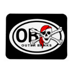 OBX Skull and Crossbones Pirate Magnet