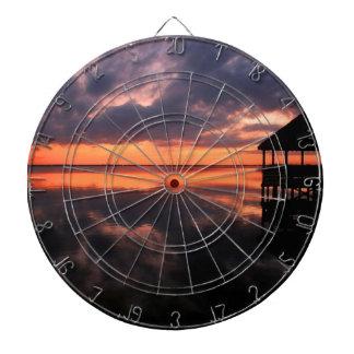 OBX Sunset Dartboard With Darts