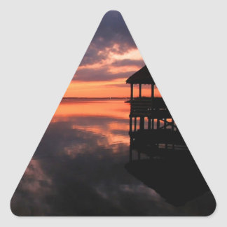 OBX Sunset Triangle Sticker