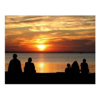 OBX Sunset Watch Post Card