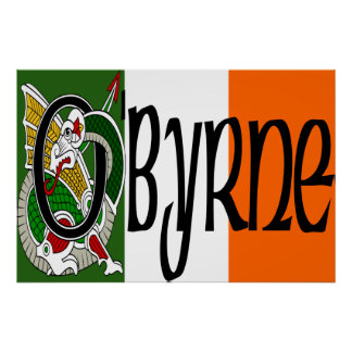 O'Byrne Celtic Dragon Print