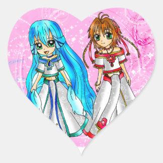 Oc Character Watery and Princess Sakura Heart Sticker