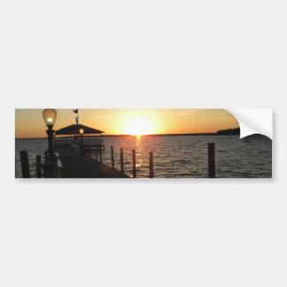 OC gazebo sunset Bumper Sticker
