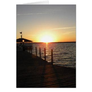 OC gazebo sunset Card