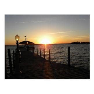 OC gazebo sunset Postcard
