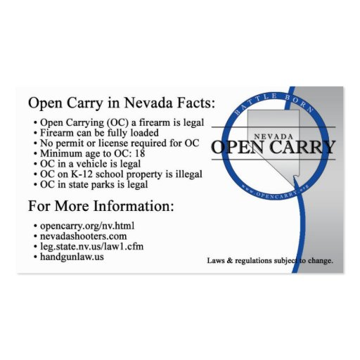 OC Info Card Business Card Template