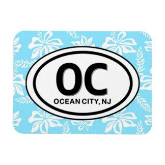 OC Ocean City NJ Blue Magnet