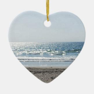 OC Southern California Beach - Ocean View Ceramic Ornament