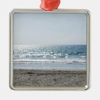 OC Southern California Beach - Ocean View Metal Ornament