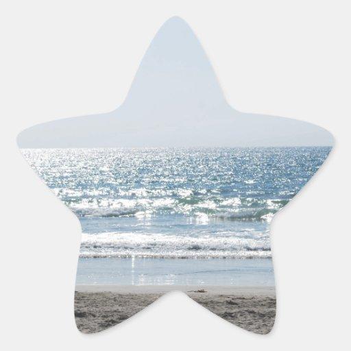 OC Southern California Beach - Ocean View Star Stickers