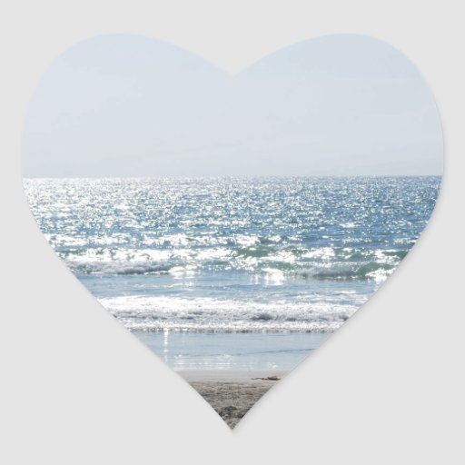 OC Southern California Beach - Ocean View Heart Sticker