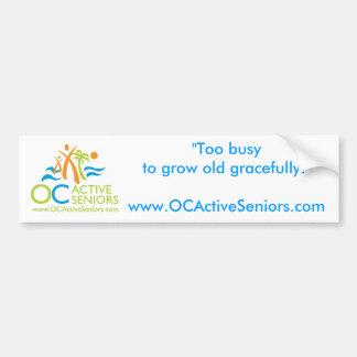OCActiveSeniors Logo- Car Bumper Sticker