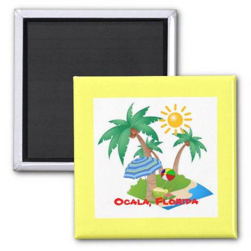 Ocala, Florida refrigerator magnet template