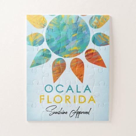 Ocala Florida Sunshine Travel Jigsaw Puzzle