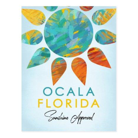 Ocala Florida Sunshine Travel Postcard