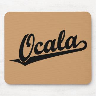 Ocala script logo in black mousepad