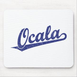 Ocala script logo in blue distressed mousepads