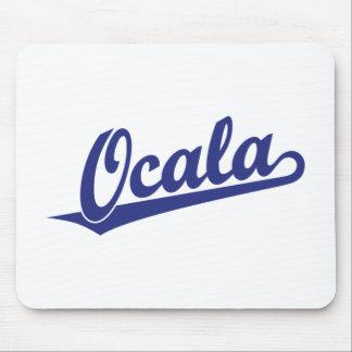 Ocala script logo in blue mousepad