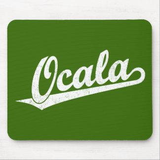Ocala script logo in white distressed mousepads