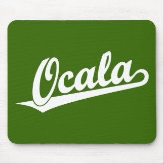 Ocala script logo in white mouse pad
