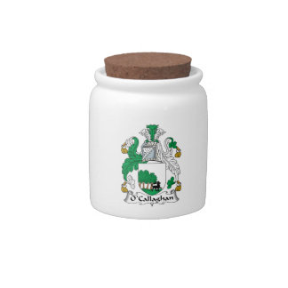 O'Callaghan Family Crest Candy Jars