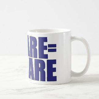 Ocare = ningún cuidado taza de café