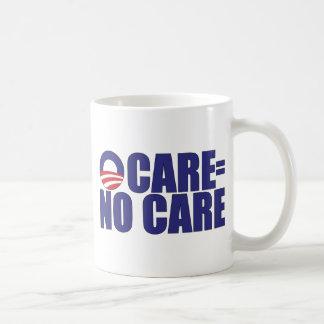 Ocare = ningún cuidado tazas de café