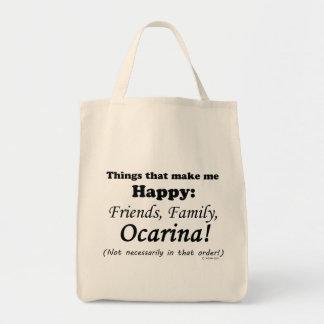 Ocarina Makes Me Happy Tote Bag