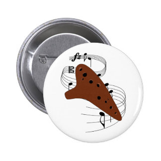 Ocarina Pinback Button