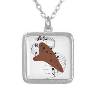 Ocarina Silver Plated Necklace