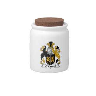 O'Carroll Family Crest Candy Jar