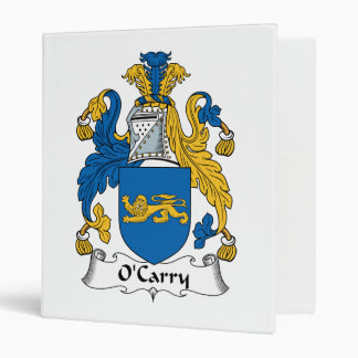 O'Carry Family Crest Binders