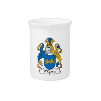 O'Carry Family Crest Drink Pitcher