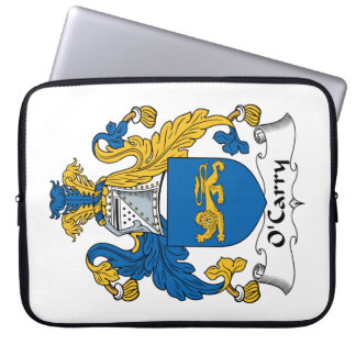 O'Carry Family Crest Laptop Computer Sleeve