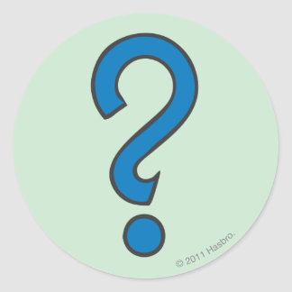 Ocasión - azul etiqueta redonda