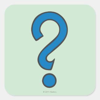 Ocasión - azul pegatina cuadrada