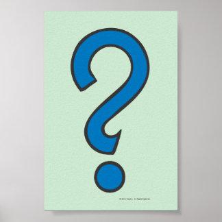 Ocasión - azul póster