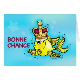 ¡OCASIÓN DE BONNE! Pescados divertidos franceses d Tarjeta De Felicitación
